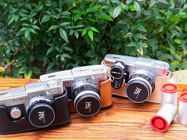 オリンパス ペン F FT用ヌメ革カメラケース ストラップ PEN F